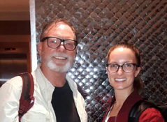 Mr Tom with daughter on India tour
